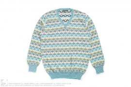 Multicolored Zig Zag Knit Sweater by Missoni