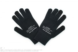 UE Navy Graphic Print Knit Gloves by Uniform Experiment