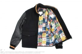 Patchwork Leather Varsity by Nanamica