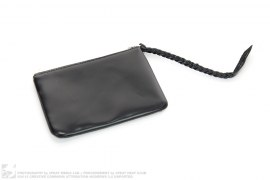 Leather Zip Wallet by Slam Jam