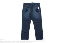 IC Felt Applique Vintage Wash Denim by BBC/Ice Cream