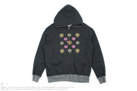 Milo Monogram Heather Full Zip Hoodie by A Bathing Ape