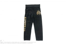 Velour Gold Foil Jacquard Camo Pocket Shark Pants by A Bathing Ape x 24karats
