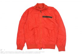 Bright Red Jacquard Print Nylon Jacket by Maharishi
