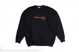 Crewneck W. Red Logo by Diamond Supply Co
