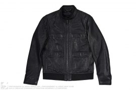 Leather Motorcycle Jacket by Elie Tahari