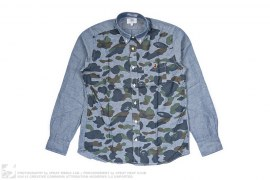 1st Camo Front Button-Up Shirt by A Bathing Ape