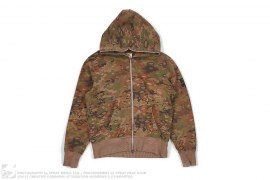 Woodland Camo Full Zip Hoodie by BBC/Ice Cream