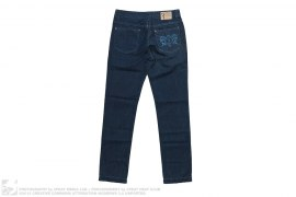 Back Embroidery Crest Format Fit Jeans by Billionaire Italian Couture