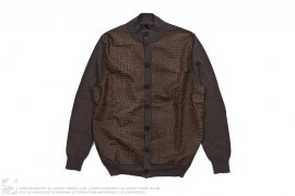 Merino Wool And Leather Cardigan by Billionaire Italian Couture
