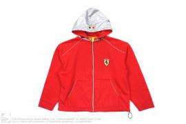 Silver Hooded Hoodie by Ferrari