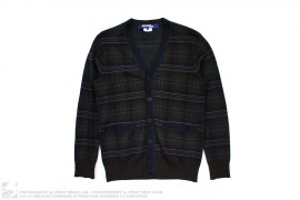 Junya Watanabe Plaid Cardigan Sweater by Comme des Garcons