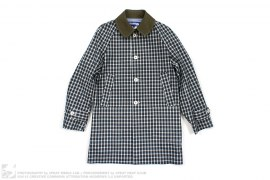 Flannel Print Trench by Comme des Garcons