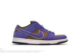 Purple Safari Dunk Low by NikeSB