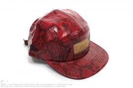 Fame Faux Snakeskin 5 Panel Camp Cap by Hall of Fame