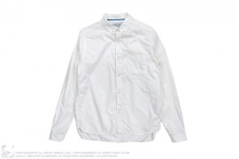 Herringborn Rollre Seam Shirt by White Mountaineering