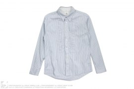 Cotton Striped Ruffle Button Up by visvim