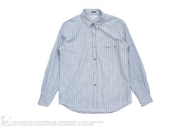 Striped Stitched Long Sleeve Button Up by Neighborhood