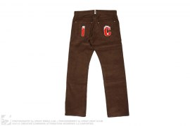 IC Embroidered Corduroy Pants by BBC/Ice Cream