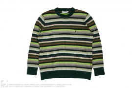 Apehead Rainbow Border Sweater by A Bathing Ape