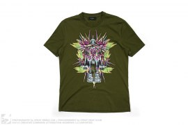 Satin Embroidered Birds of Paradise Robot Tee by Givenchy