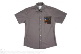 Native Print Pocket Shirt by Fuck The Population