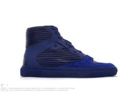 Leather Pleated High Top Sneakers Violet by Balenciaga