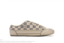 Elan Damier Checkered Leather Low Top Sneakers by Louis Vuitton