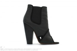 Peep Toe Basto Fabric Ankle Boot by Givenchy
