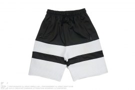 Poly Two Tone Ribbed Shorts by En Noir
