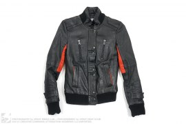 Leather Champs Jacket by Surface to Air x Kid Cudi