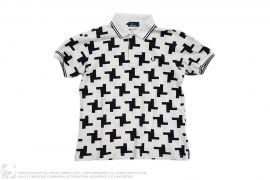 Monogram Print Polo by Fred Perry