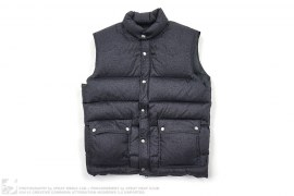 Dollar Sign Down Vest by Stussy