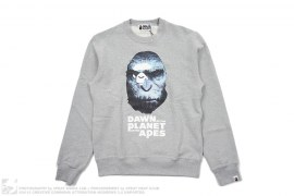 Caesar Crewneck Sweatshirt by A Bathing Ape x Planet Of The Apes