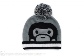 Milo Cuffed Pom Pom Beanie by A Bathing Ape