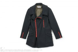 Melton Wool Zippered Peacoat by Feal Mor