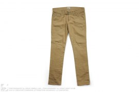 Weird Guy Selvedge Khaki Chino Pants by Naked & Famous