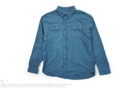 Solid Color Flannel Button Up Shirt by HUF