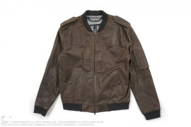 Leather Bomber Jacket by Marc Jacobs