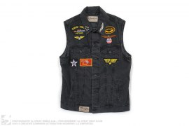 Military Biker Vest by Fashion Geek
