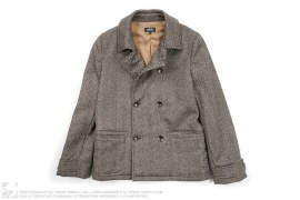 Double Breasted Wool Tweed Peacoat by APC