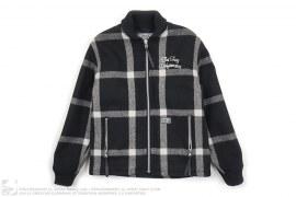 Wool Plaid Drifter Short Jacket by Neighborhood