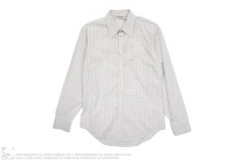 Grid Pattern Button Down Shirt by Yves Saint Laurent