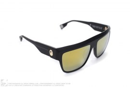 Gold Mirror Flattop Sunglasses by A Bathing Ape