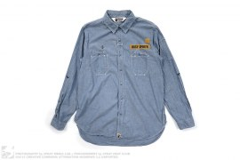 Busy Opertr Chambray Ops Button Up by A Bathing Ape