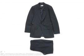 Cotton/Linen Tonal Stripe Suit by Dries Van Noten