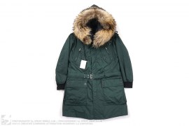 Raccoon Fur Hooded Snorkel Jacket W/Removable Liner by Balmain