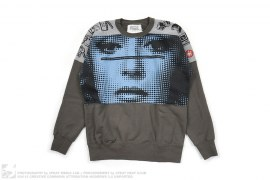 Dot Face Cut & Sew Graphic Sweatshirt by Cav Empt