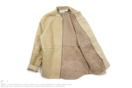Prorsum Collection Leather Shearling Jacket by Burberry