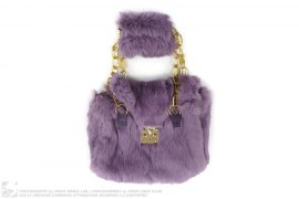 Rabbit Fur Purse by Fall In love